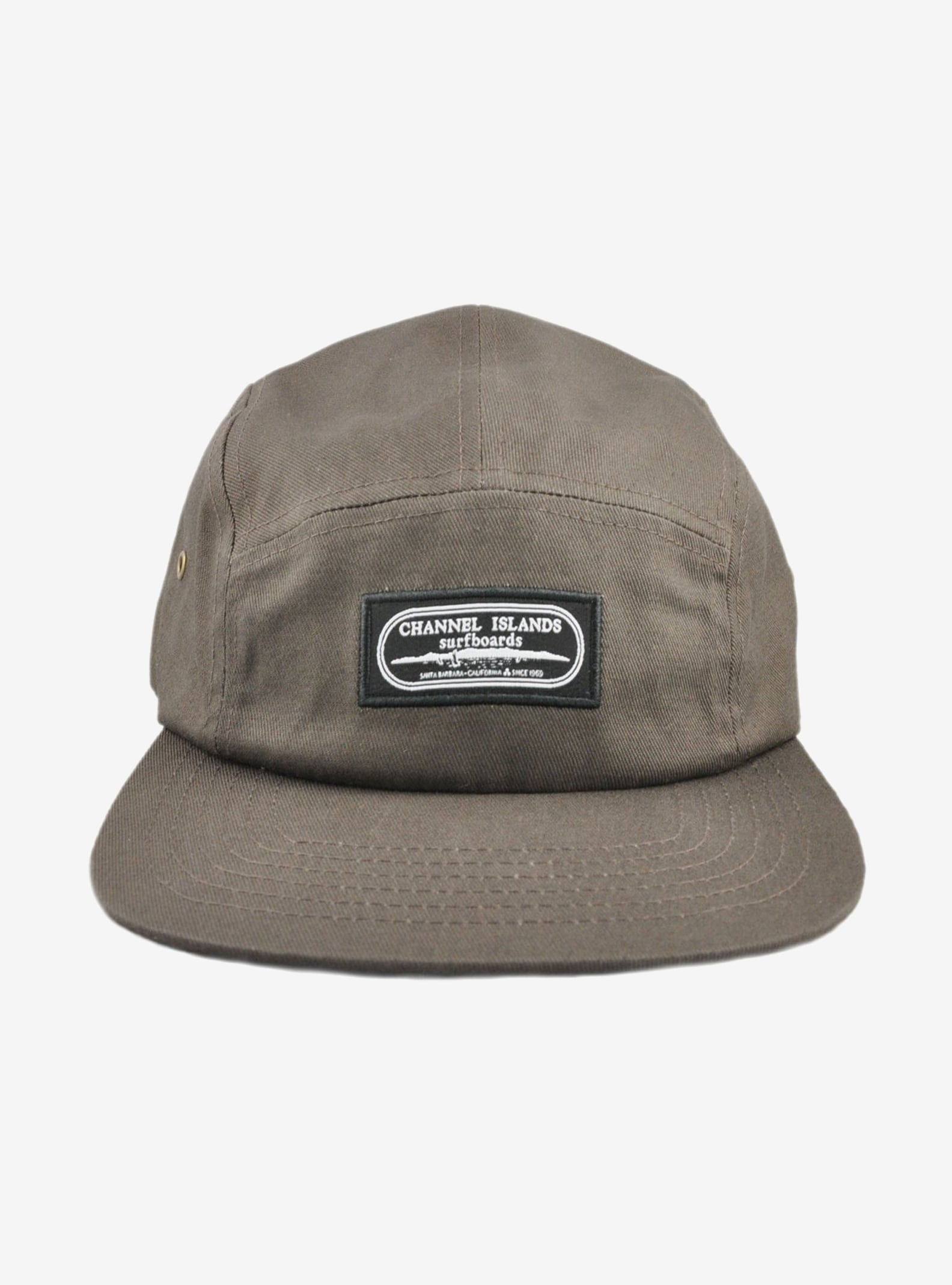 Channel Islands Oval Islands 6 Panel Hat shown in Taupe