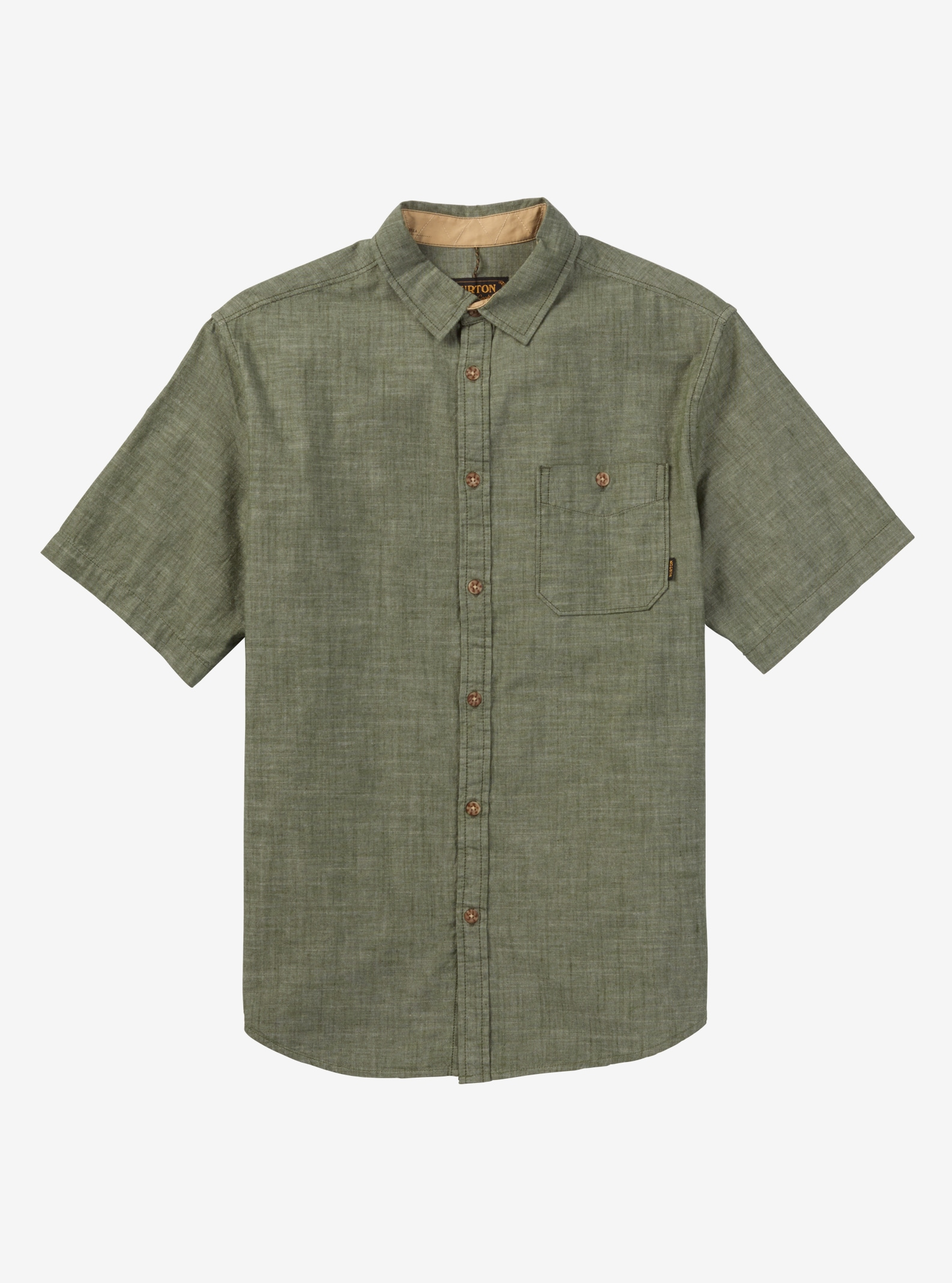 Burton Slayton Short Sleeve Shirt shown in Rifle Green