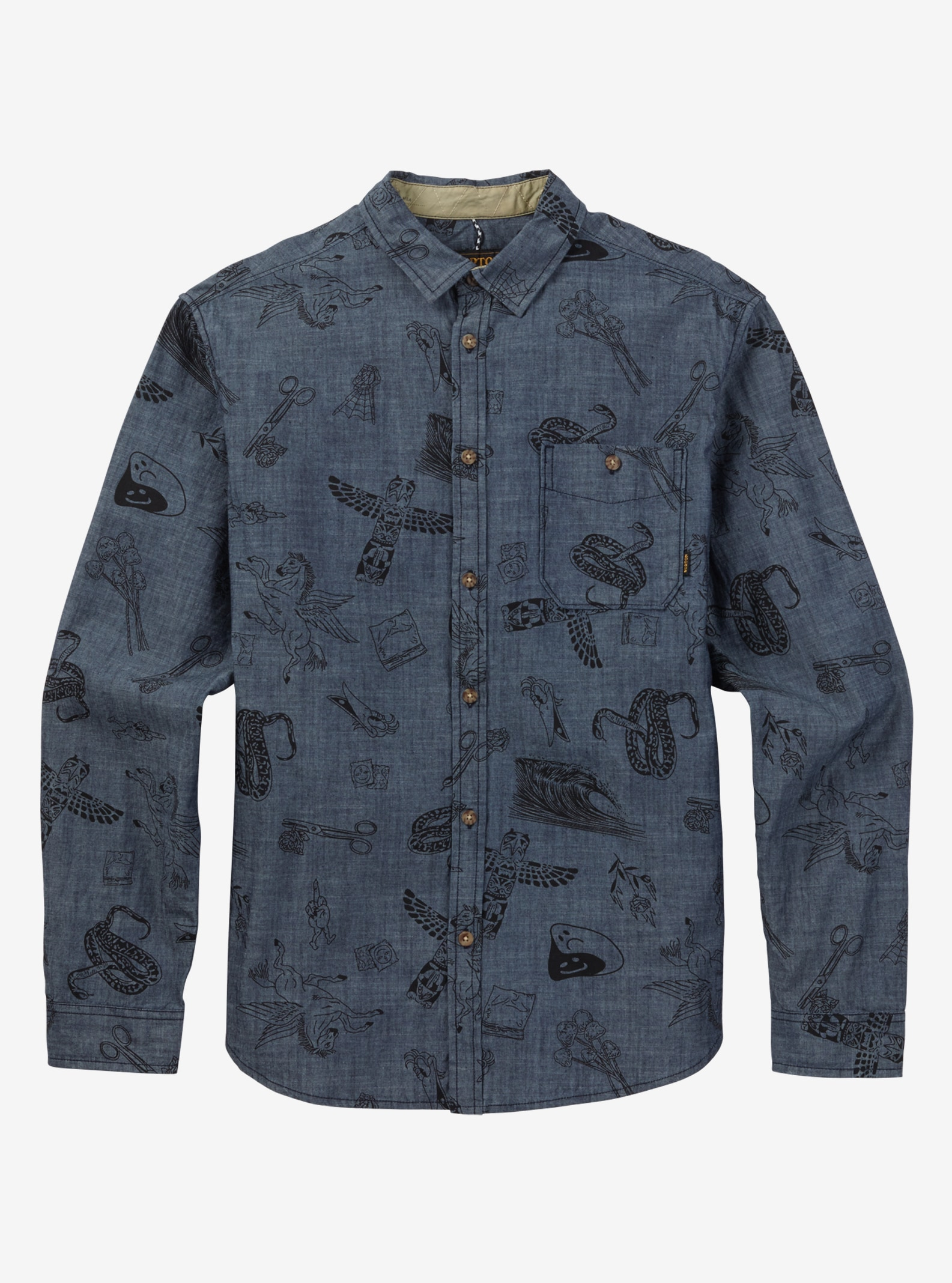 Burton Slayton Long Sleeve Shirt shown in Chambray Freetime