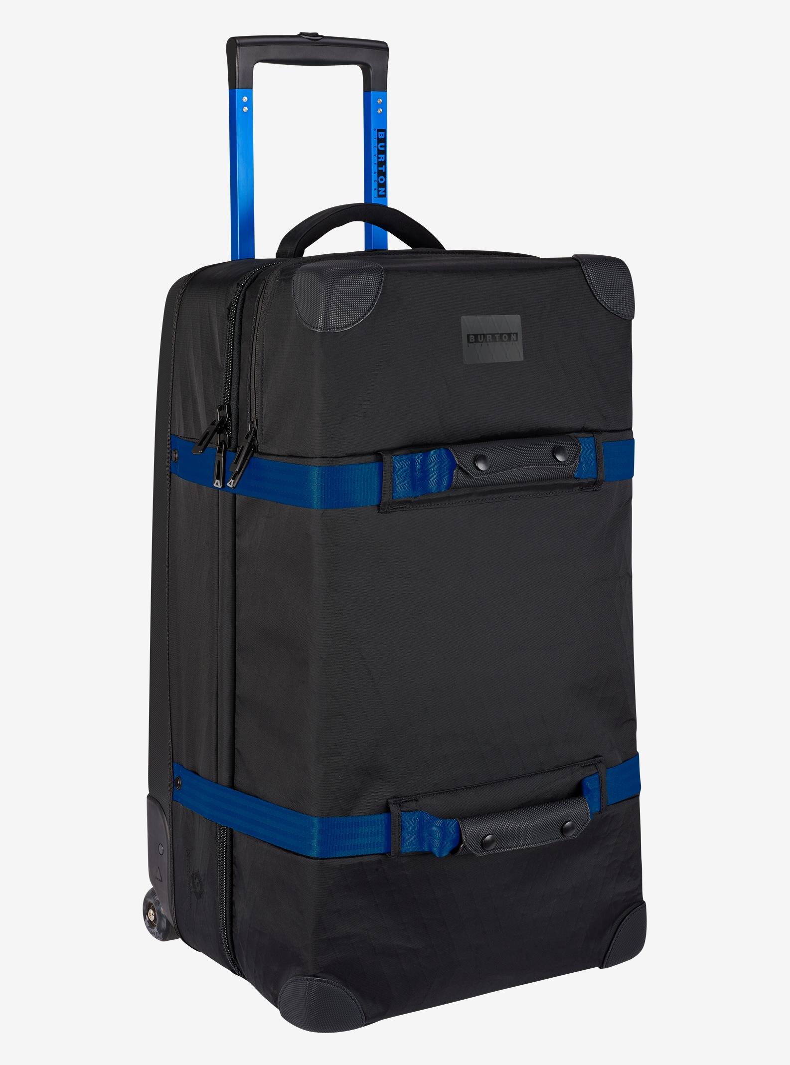 Burton x Aoki Wheelie Double Deck Travel Bag shown in Aoki Black