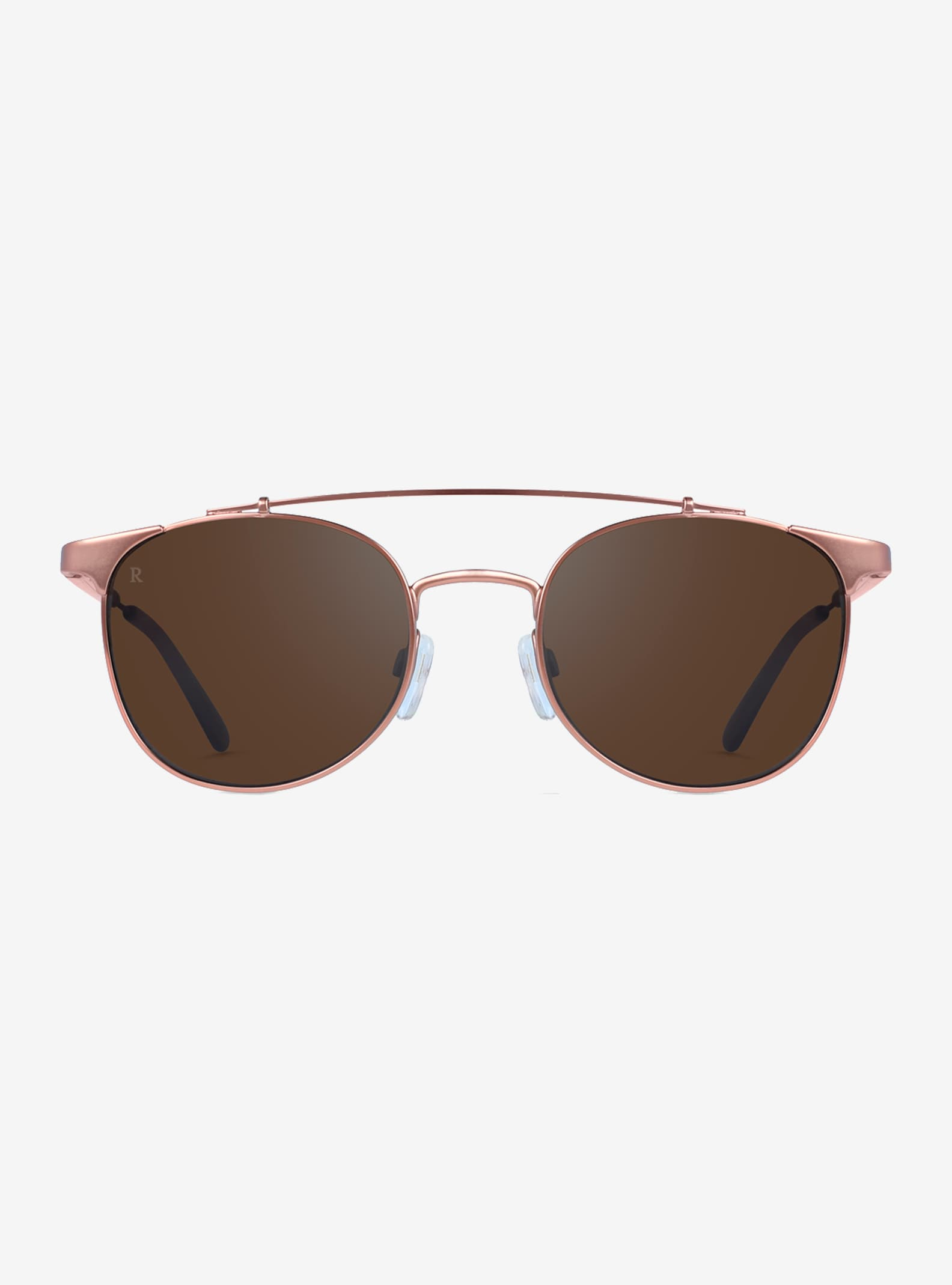 RAEN Raleigh Sunglasses shown in Rose Gold (Silver Tri-flection Mirror)