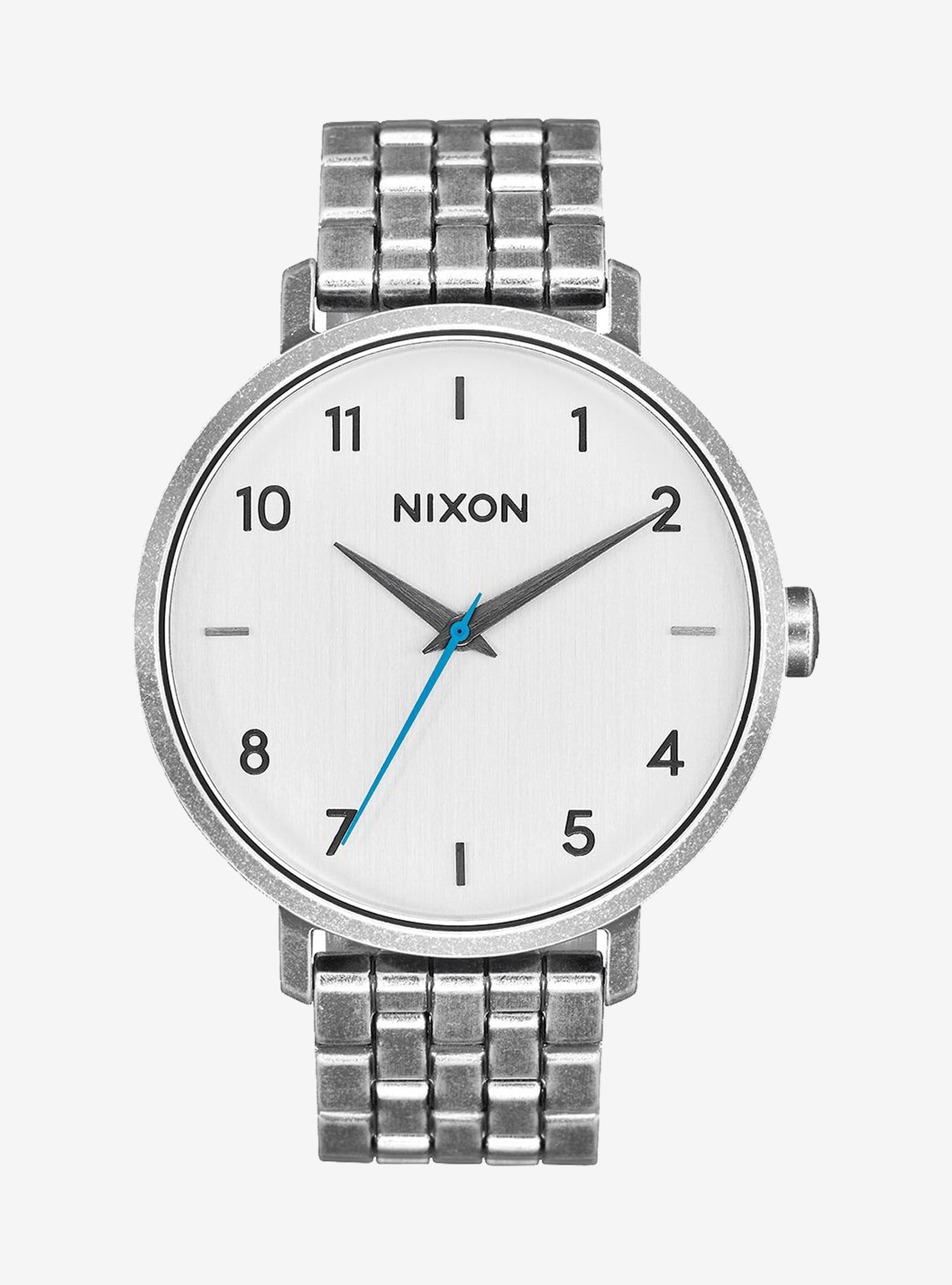 Nixon Arrow Watch shown in Silver / Antique
