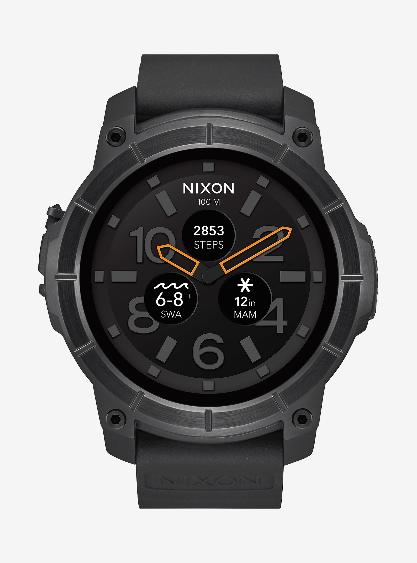 Nixon Mission Watch shown in Black