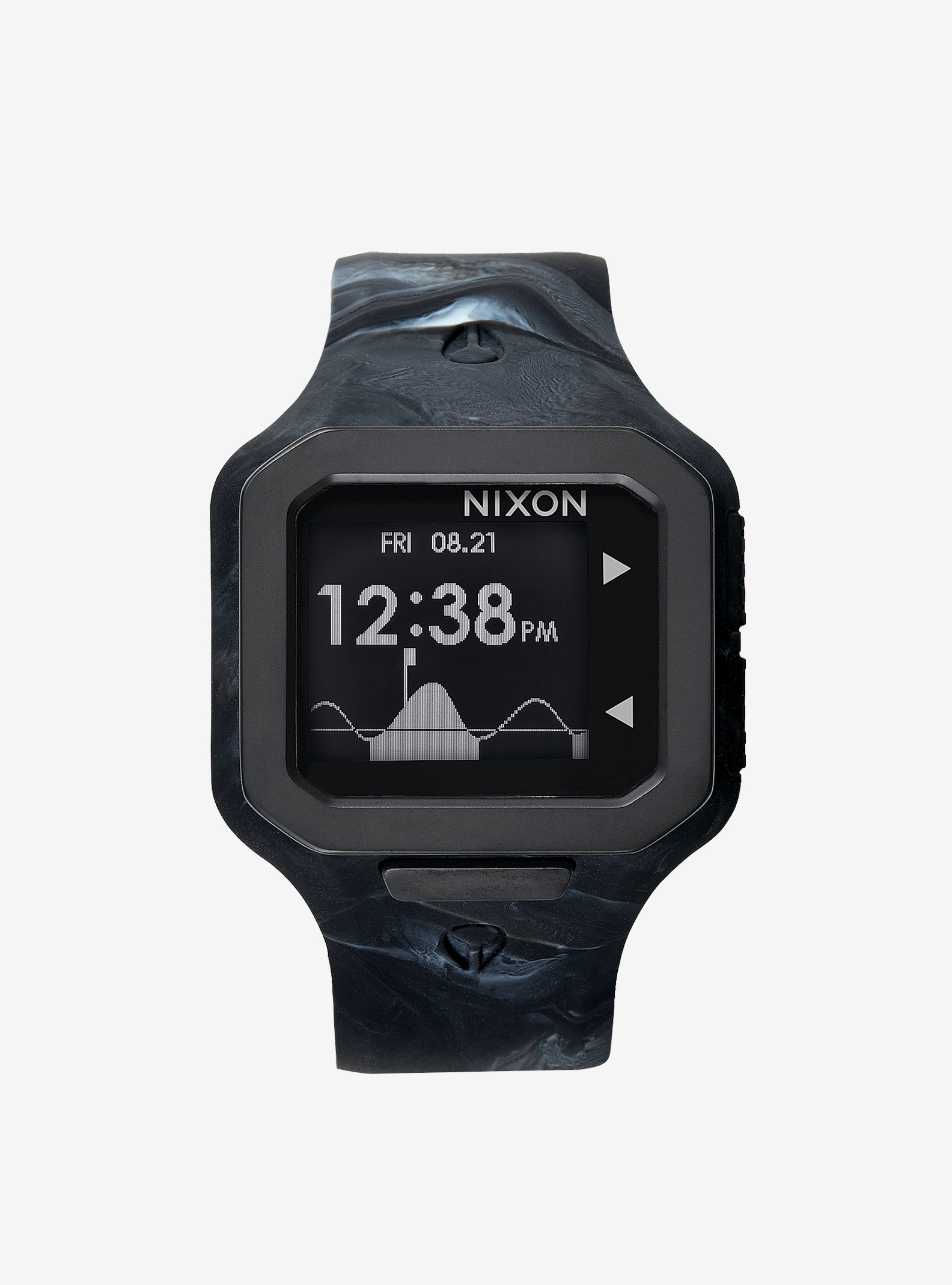 Nixon Supertide Watch shown in Marbled Black Smoke