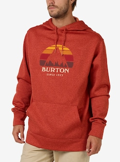 1409b01ec Men's Burton Oak Pullover Hoodie shown in Bossa Nova Heather
