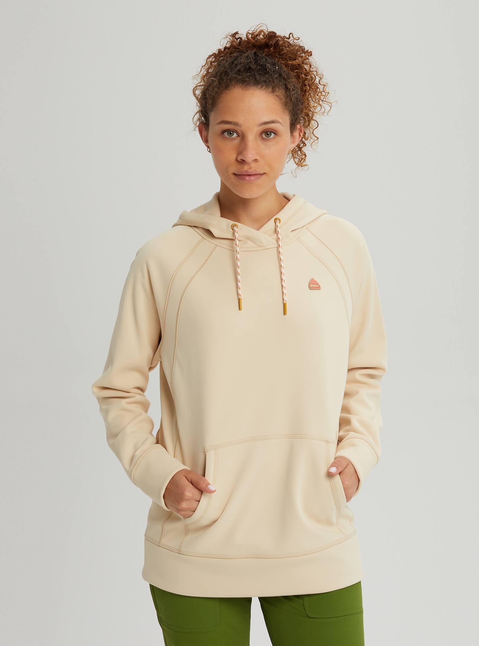 Flower Classic Regular Pocket Sweatershirt Hoodie Sweater for Women M Gray