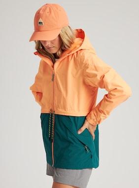 Women's Burton Narraway Jacket shown in Papaya / Antique Green