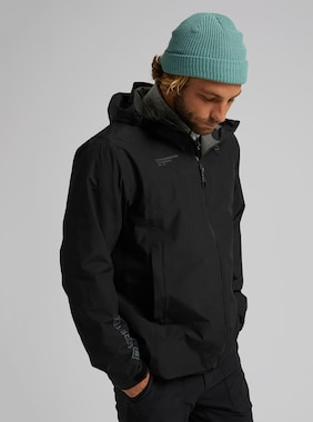 Men's Burton GORE-TEX Packrite Rain Jacket shown in True Black