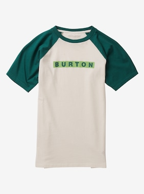 Kids' Burton Vault Short Sleeve T-Shirt shown in Stout White / Antique Green