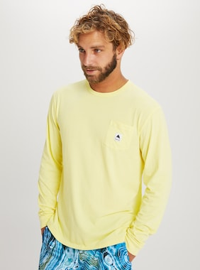 Burton Colfax Long Sleeve T-Shirt shown in Lemon Verbena