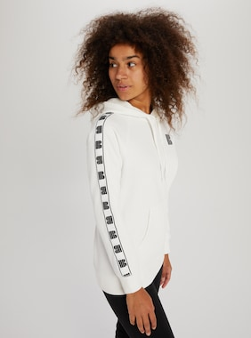 Women's Burton Lost Things Long Sleeve Pullover Hoodie shown in Stout White