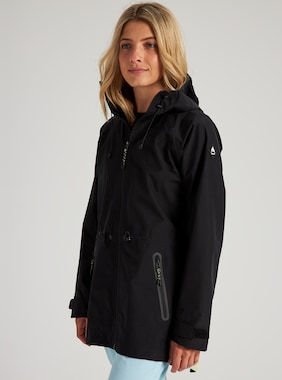 Women's Burton GORE-TEX 2L Packrite Parka shown in True Black / Mirridescence
