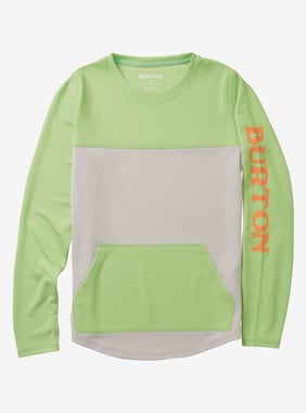 Kids' Burton Spurway Tech Crewneck Sweatshirt shown in Summer Green / Lunar Gray