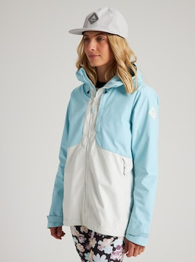Women's Burton GORE-TEX INFINIUM™ Multipath Jacket shown in Iced Aqua / Stout White