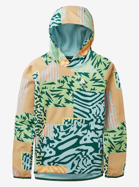 Kids' Burton Crown Weatherproof Pullover Fleece shown in Iced Aqua Composite