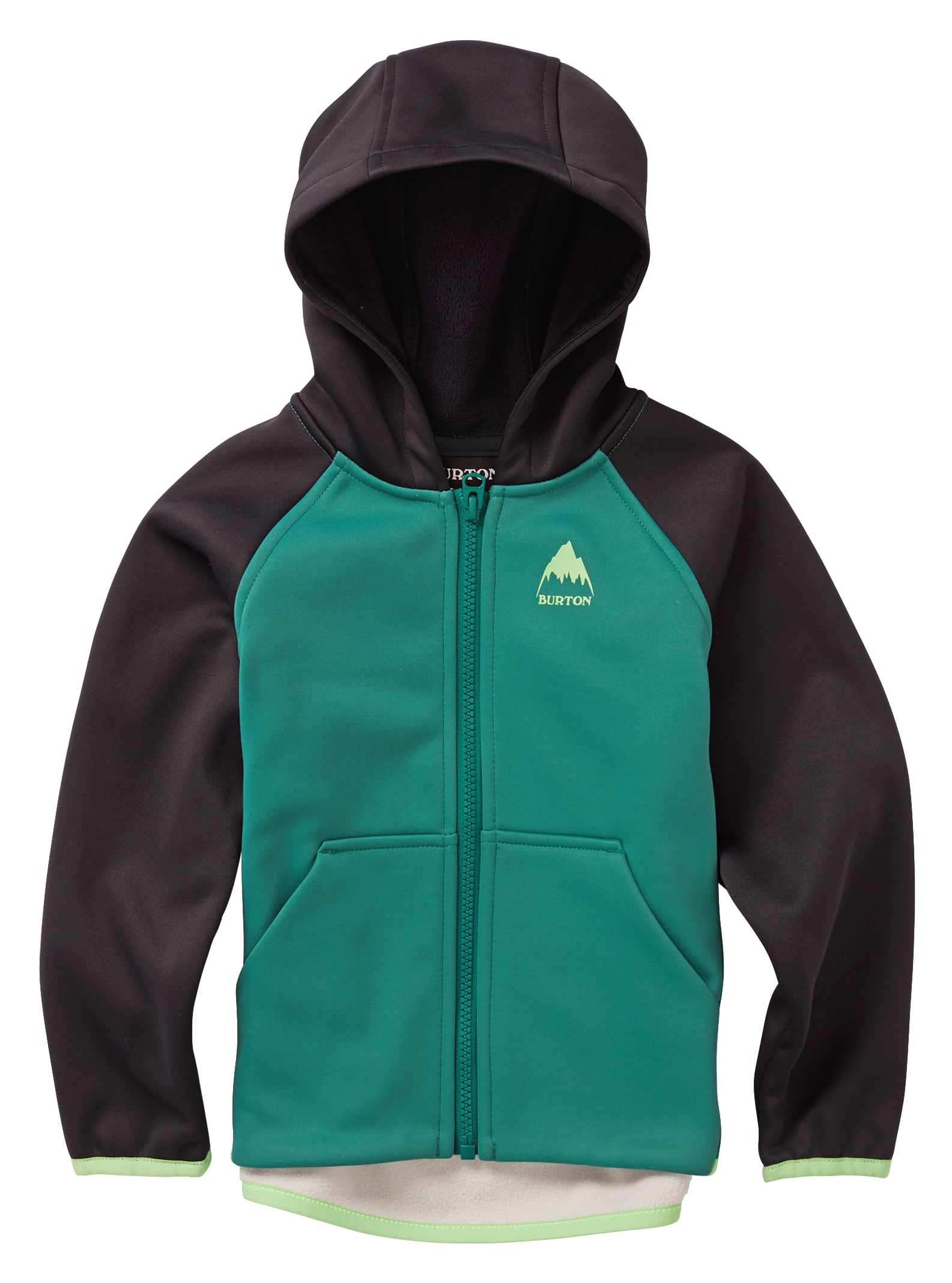 Burton Crown Weatherproof fleece med hel dragkedja, 2T