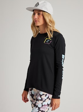 Women's Burton Multipath Active Long Sleeve T-Shirt shown in True Black