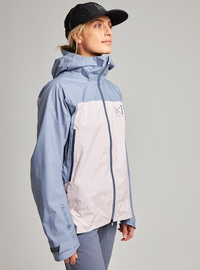 Women's Burton [ak] GORE-TEX Surgence Jacket shown in Folkstone Gray / Violet Ice