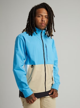 Men's Burton Multipath Shell Jacket shown in Cyan / Safari / True Black