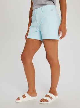 Women's Burton Multipath Shorts shown in Iced Aqua