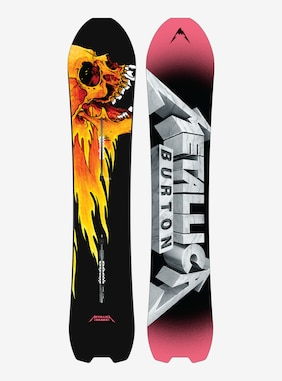 Burton Metallica Skeleton Key Snowboard shown in 154