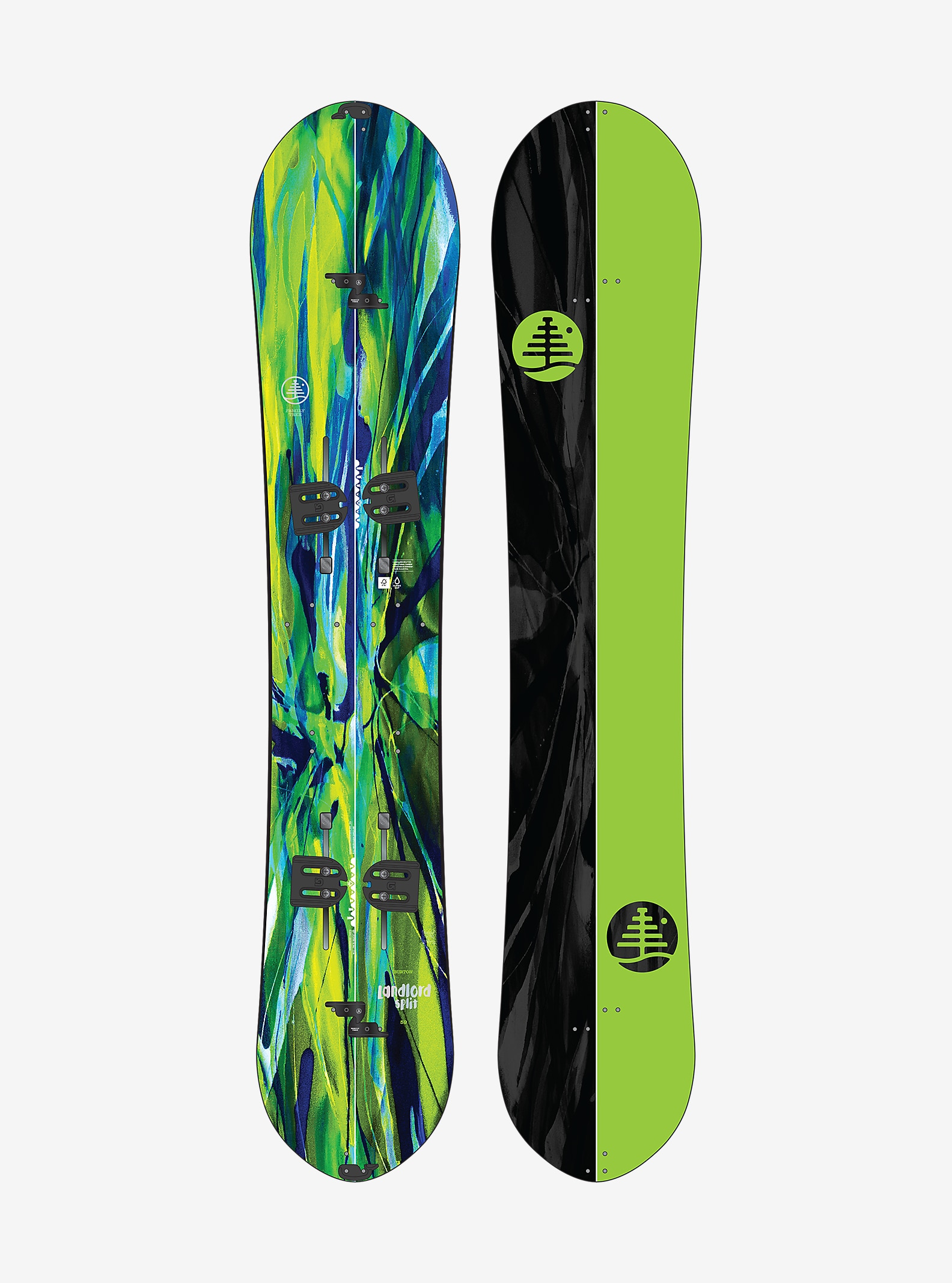 Burton Family Tree Landlord Split Snowboard shown in 159