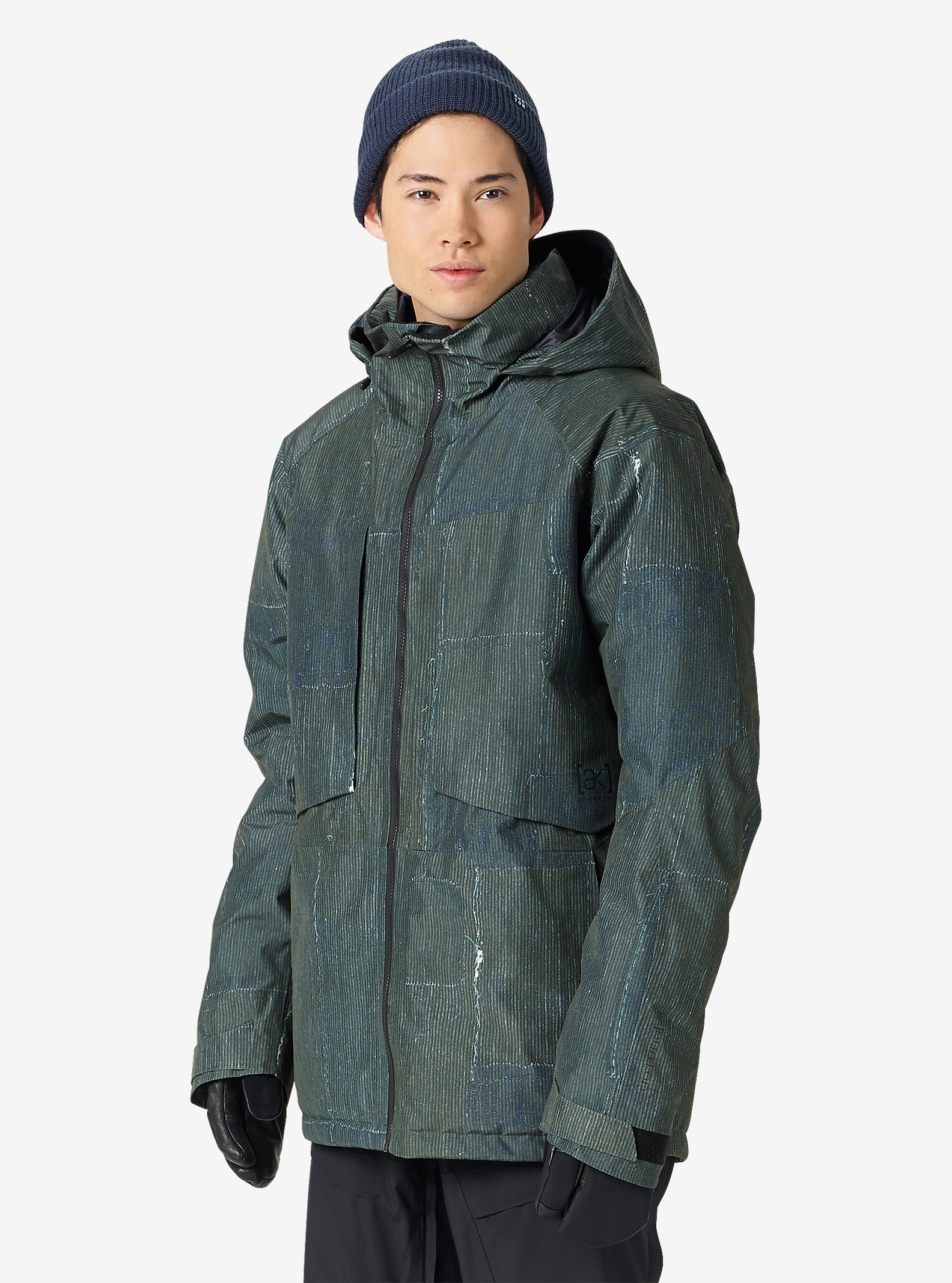 Burton [ak] 2L LZ Down Jacket shown in Station Stripe