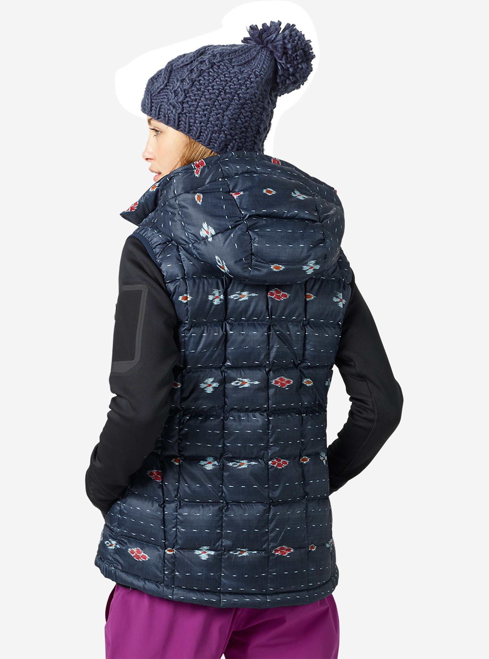 Burton [ak] Squall Iso-Daunenweste angezeigt in Floral Ikat Stripe