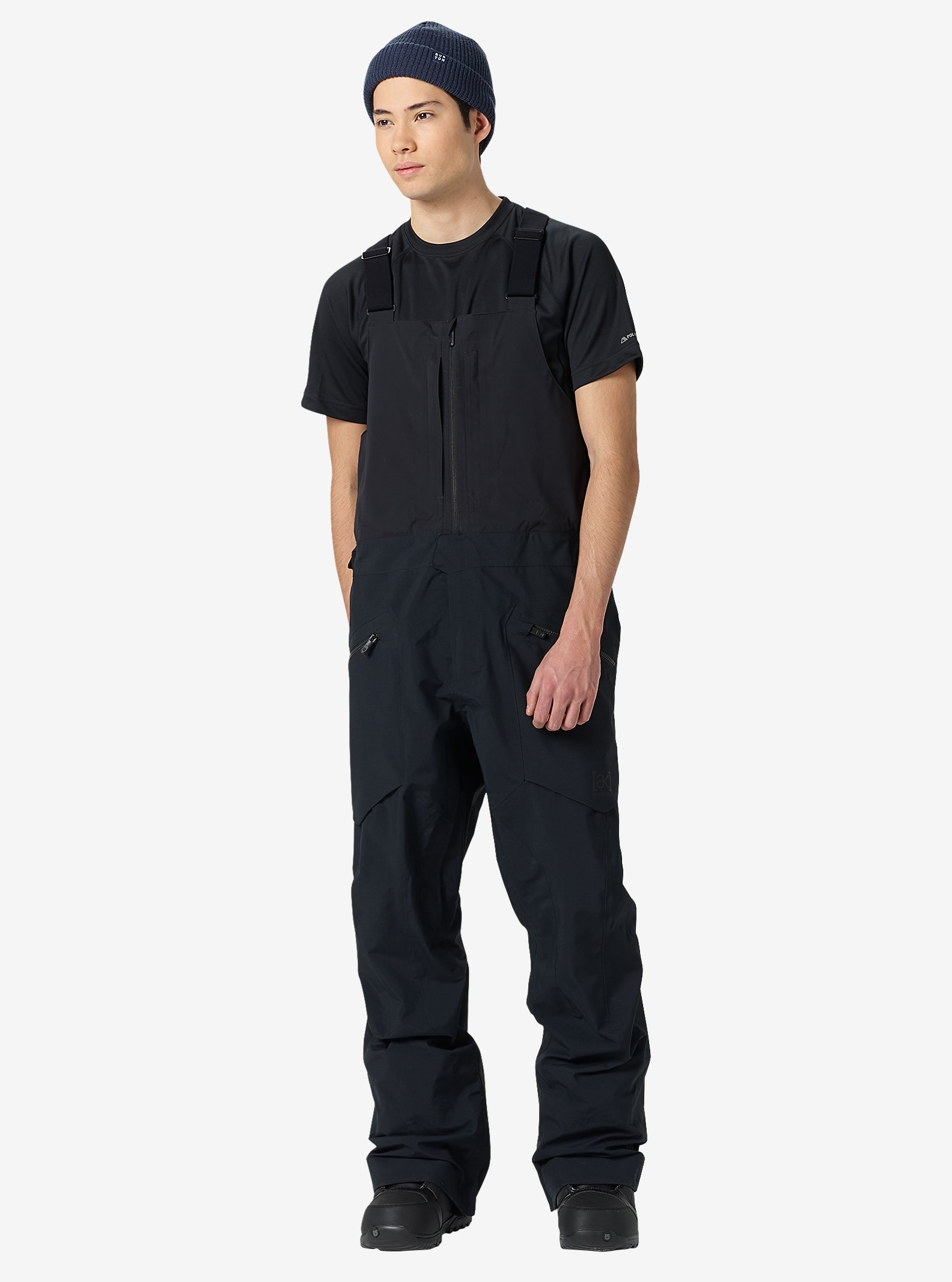 Burton [ak] 3L Freebird Bib Pant shown in True Black