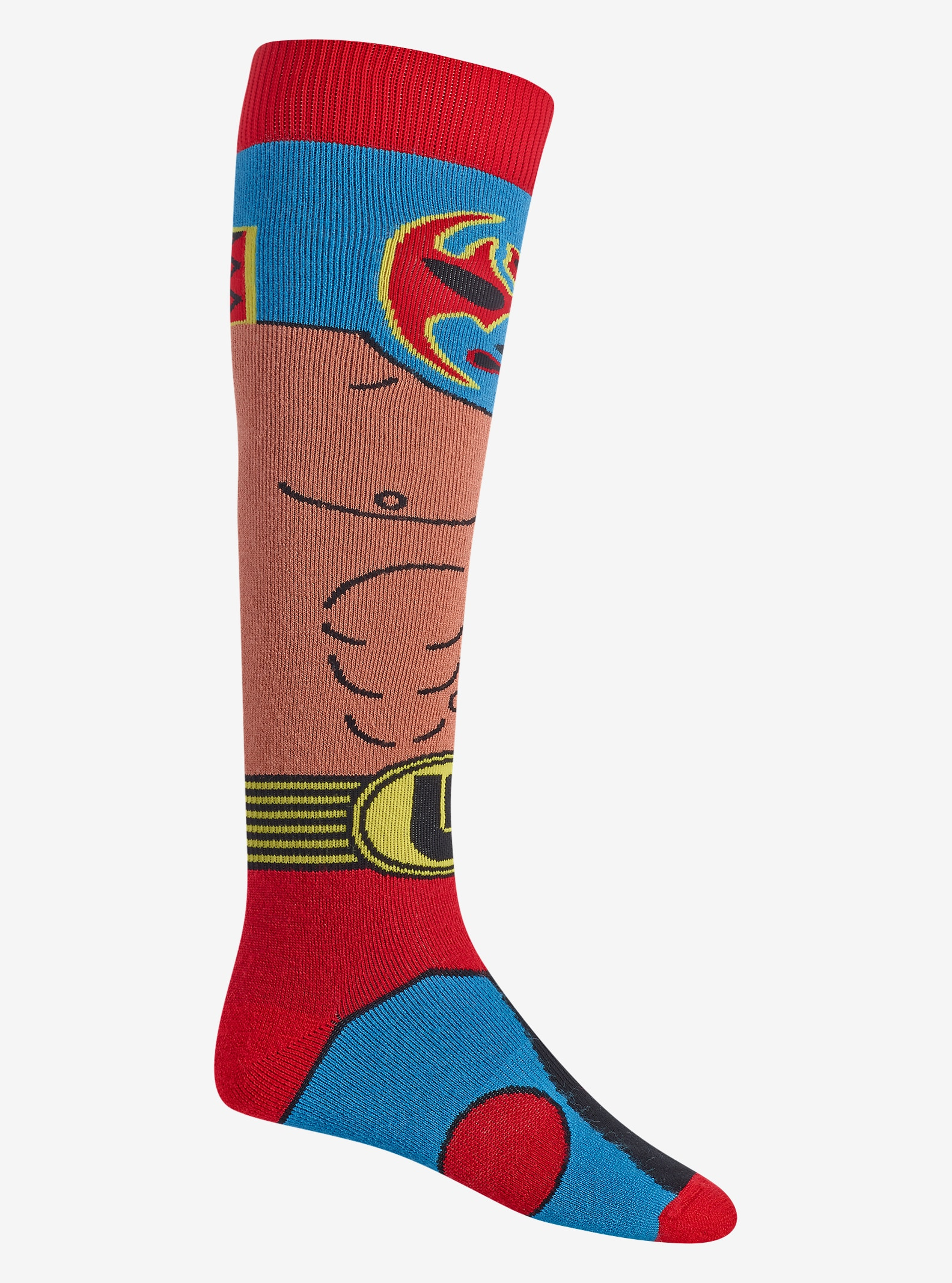 Burton Party Sock shown in Luchador