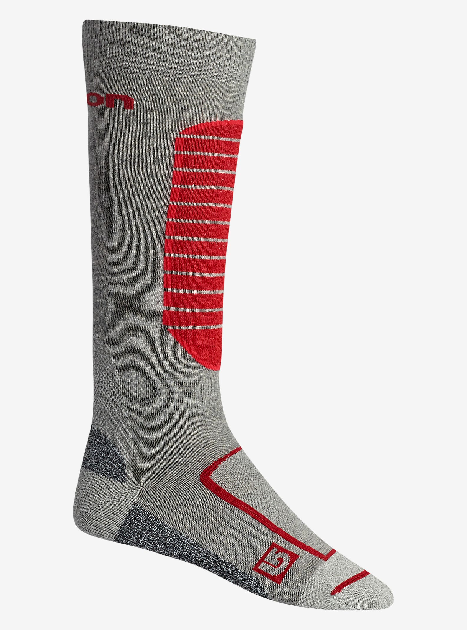 Burton Merino Phase Sock shown in Heather Iron Grey