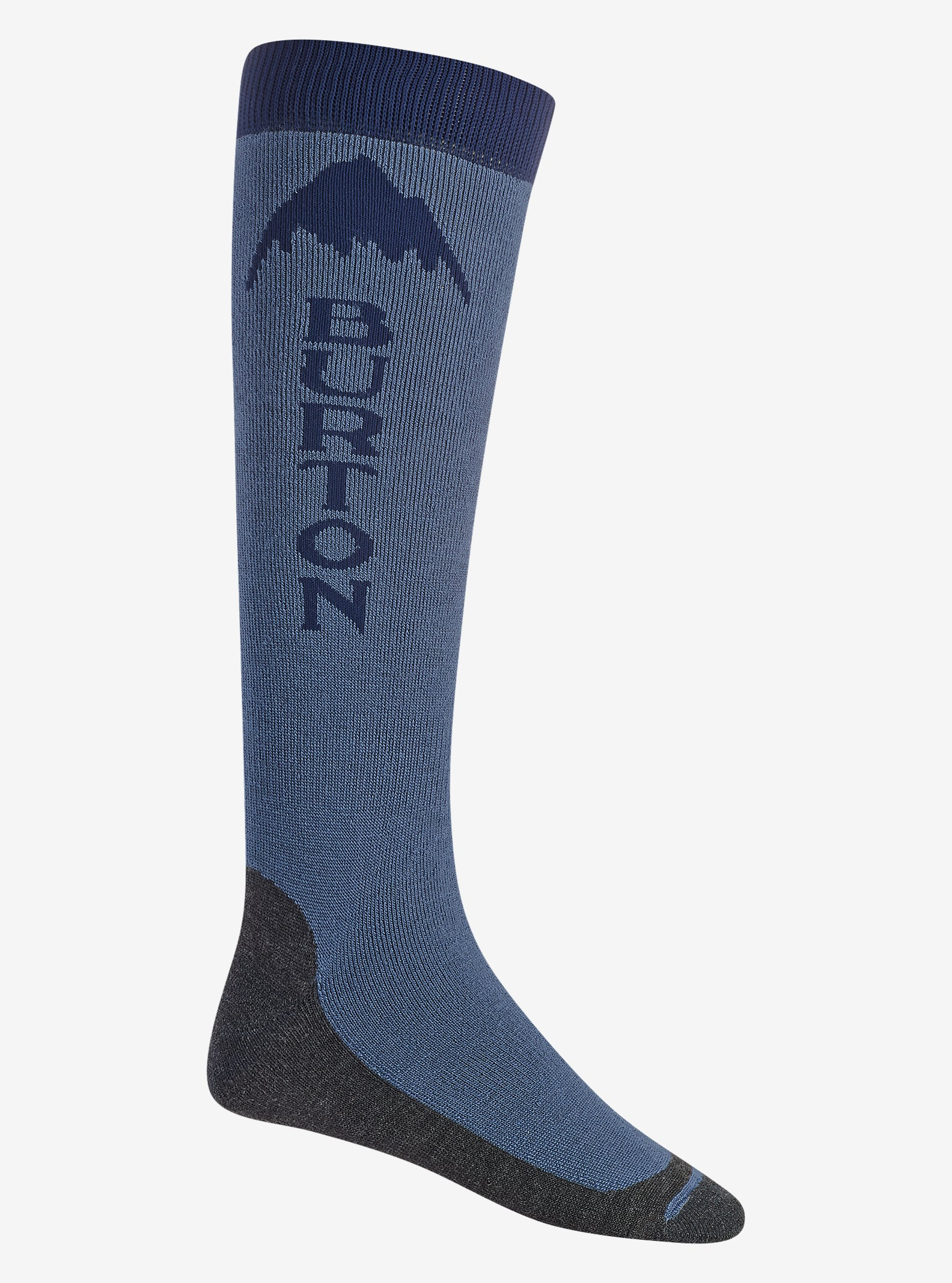 Burton Emblem Sock shown in Washed Blue