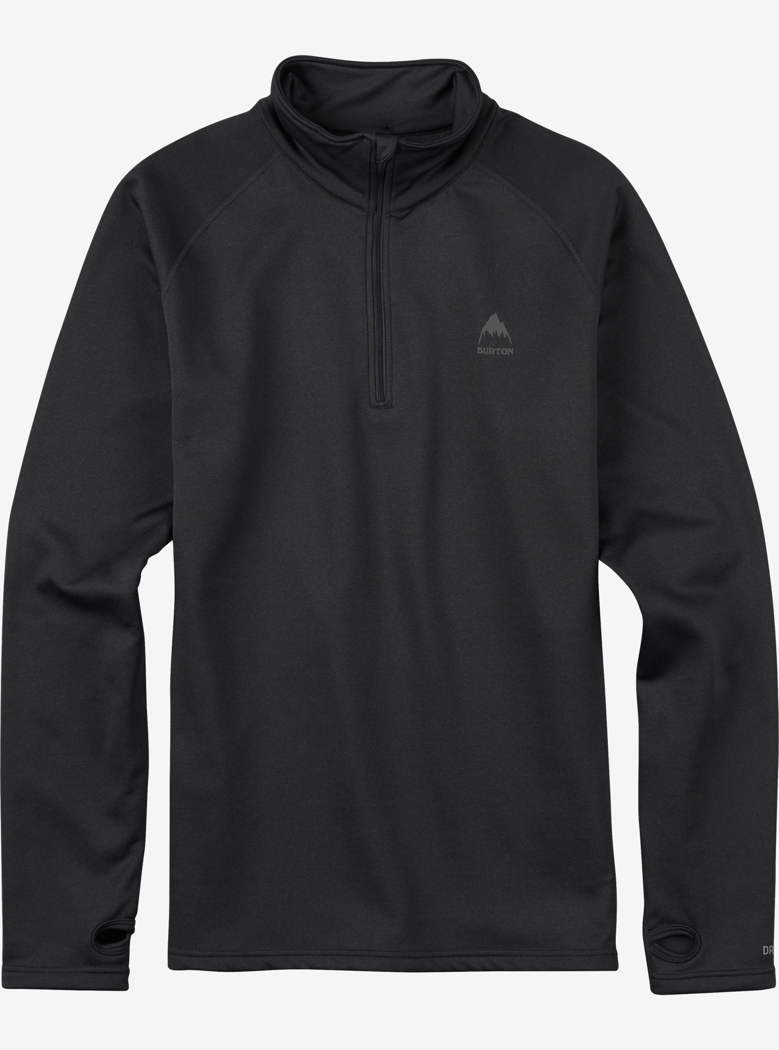 Burton Expedition 1/4 Zip Base Layer shown in Faded Heather