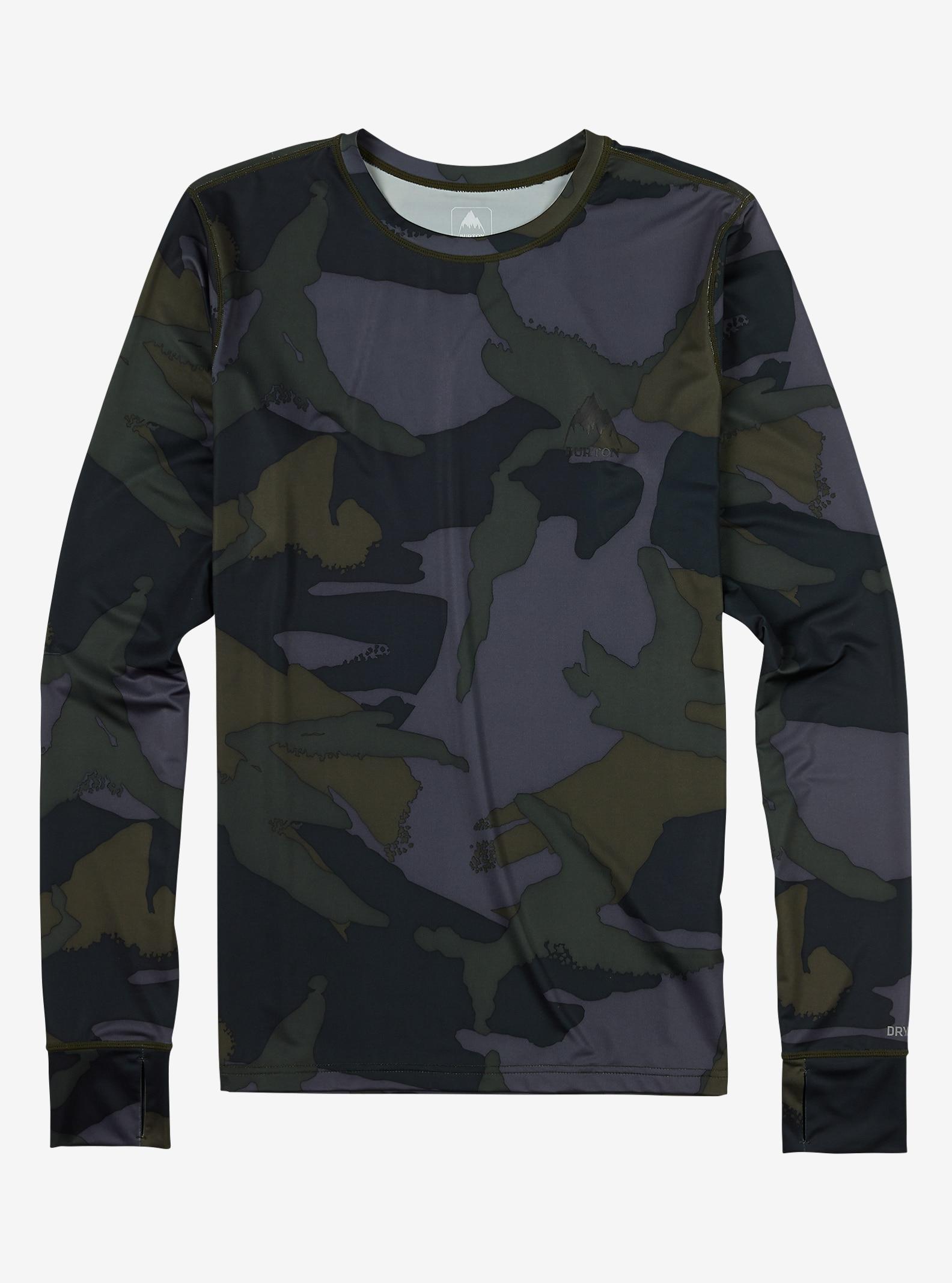 Burton Funktionswäsche Leichtes Hemd mit Rundhalsausschnitt angezeigt in Beetle Derby Camo