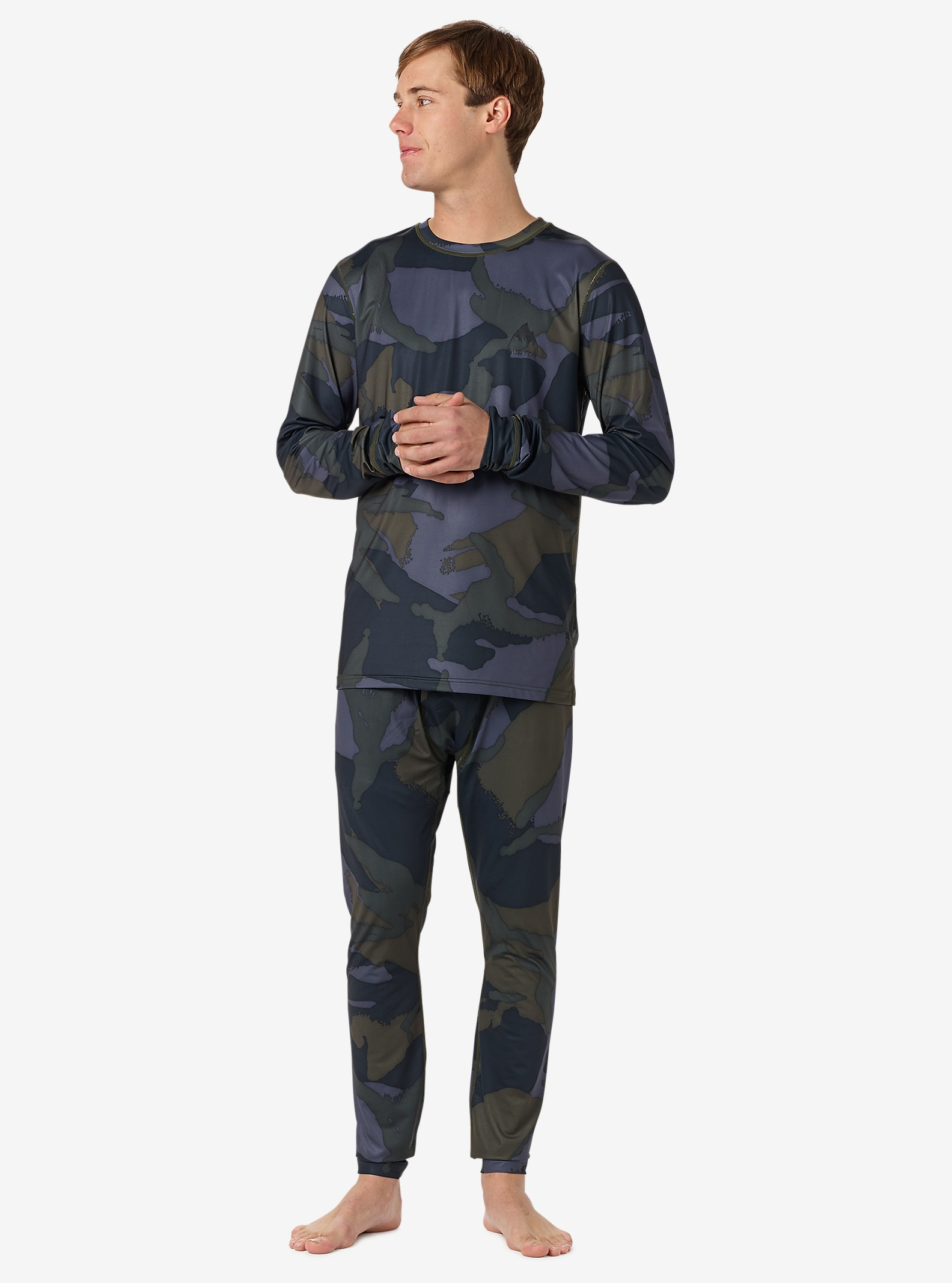 Burton Lightweight Base Layer Pant shown in Beetle Derby Camo