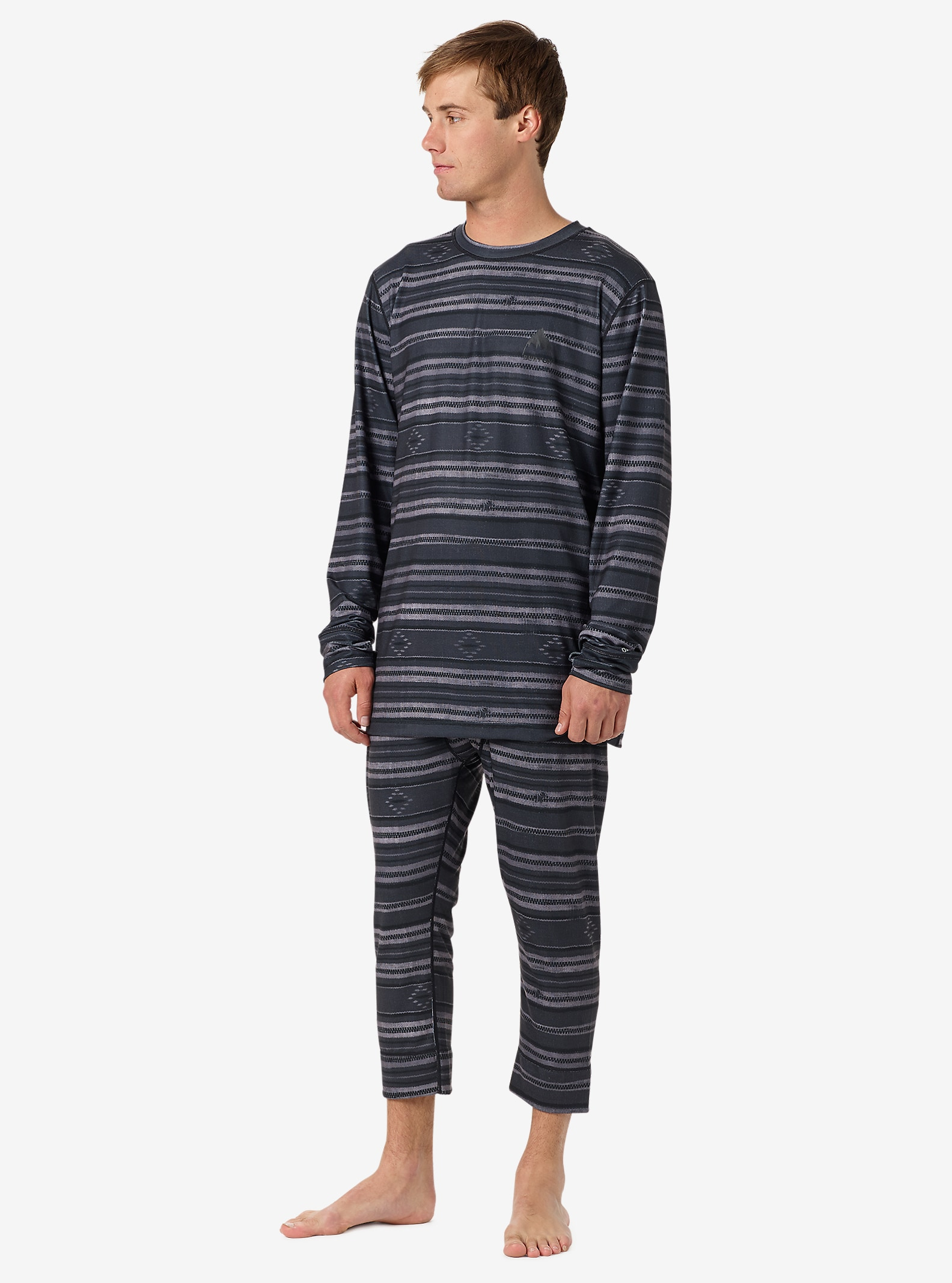 Burton Midweight Base Layer Shant shown in Faded Stag Stripe
