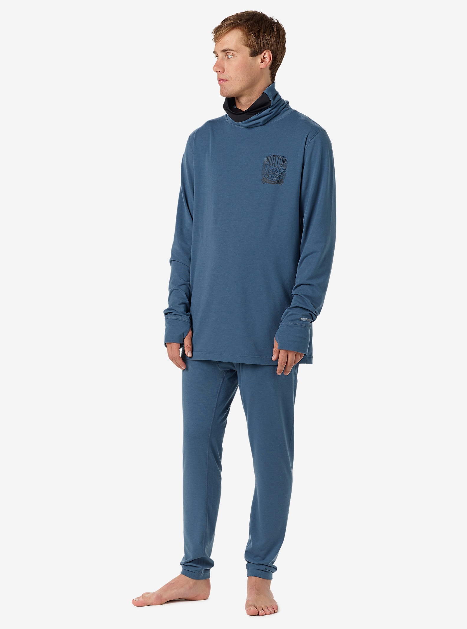 Burton Midweight Base Layer Pant shown in Washed Blue