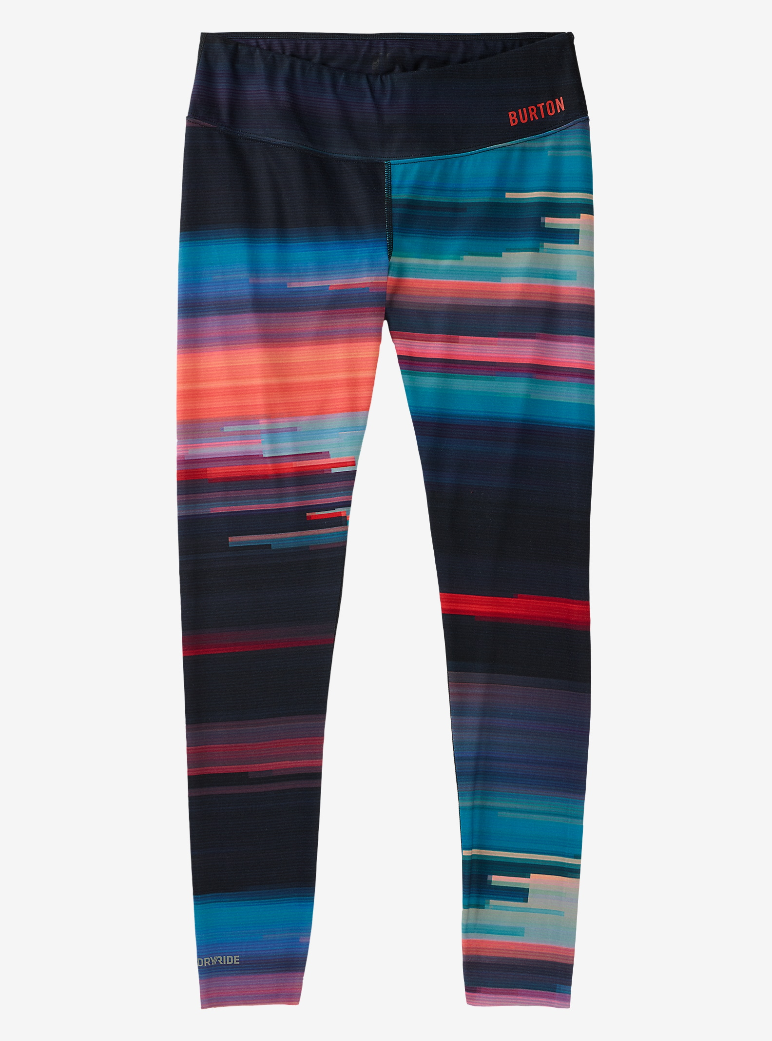 Burton Women's Midweight Base Layer Pant shown in Coral Flynn Glitch