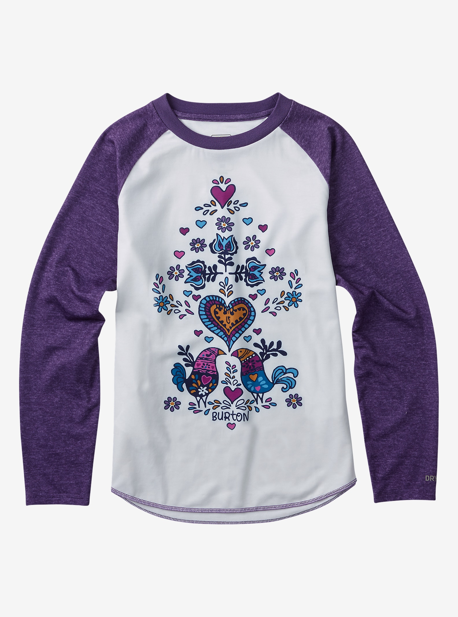 Burton Kids' Base Layer Tech Tee shown in Hippie Girl