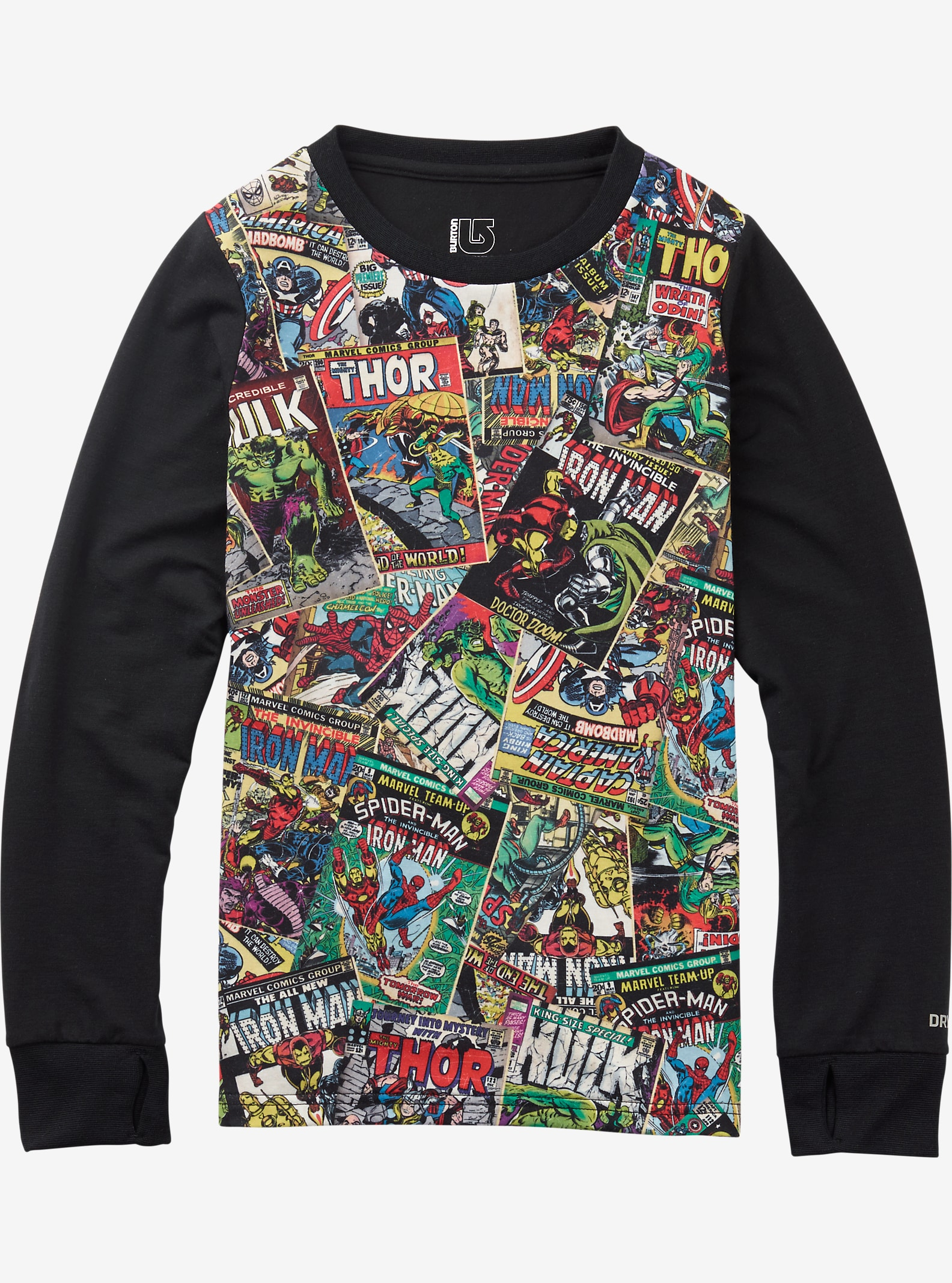 Marvel® x Burton Kids' Tech Tee shown in Marvel © 2016 MARVEL