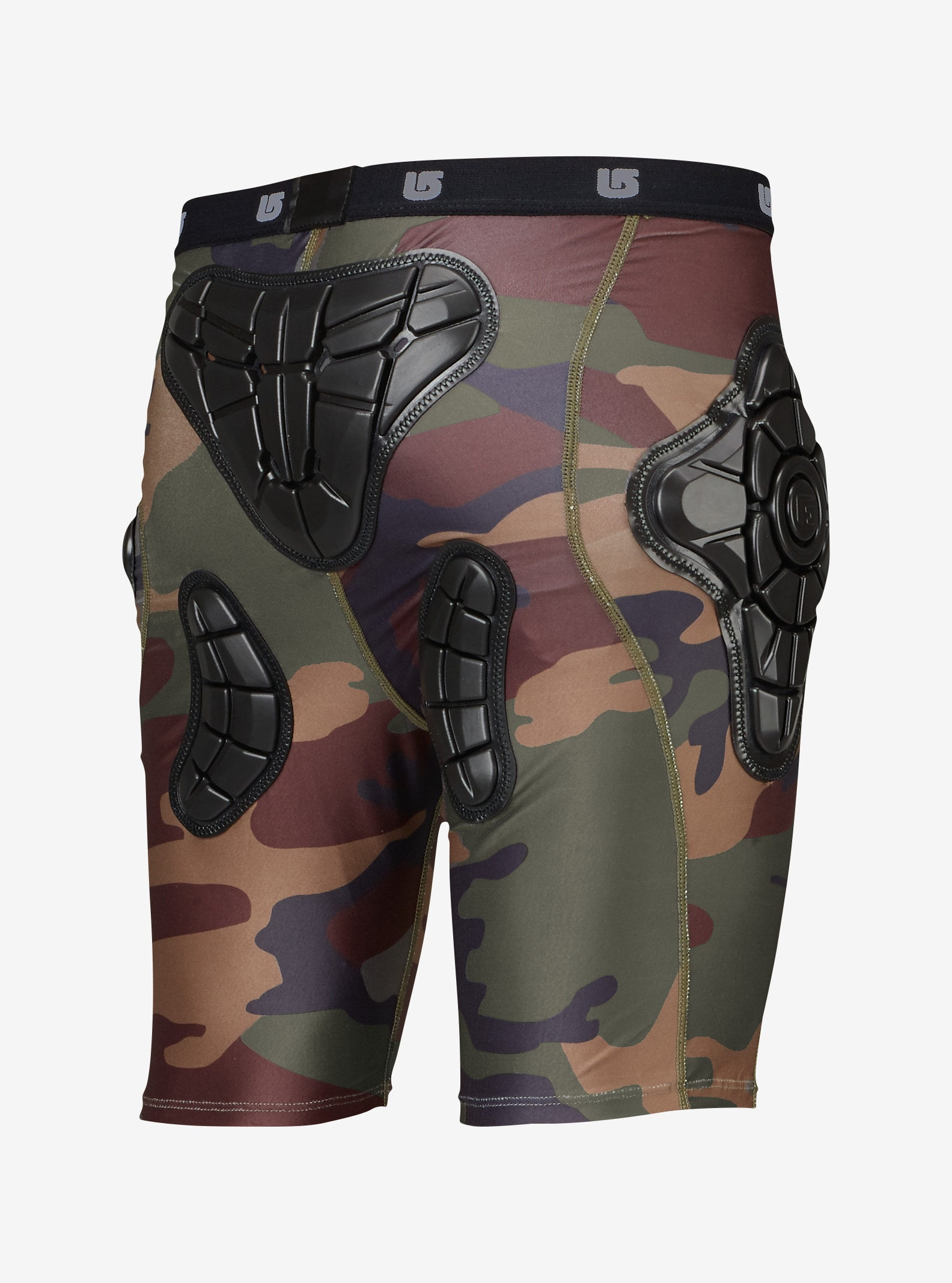 Burton Kids' Total Impact Short, Protected by G-Form™ shown in Highland Camo