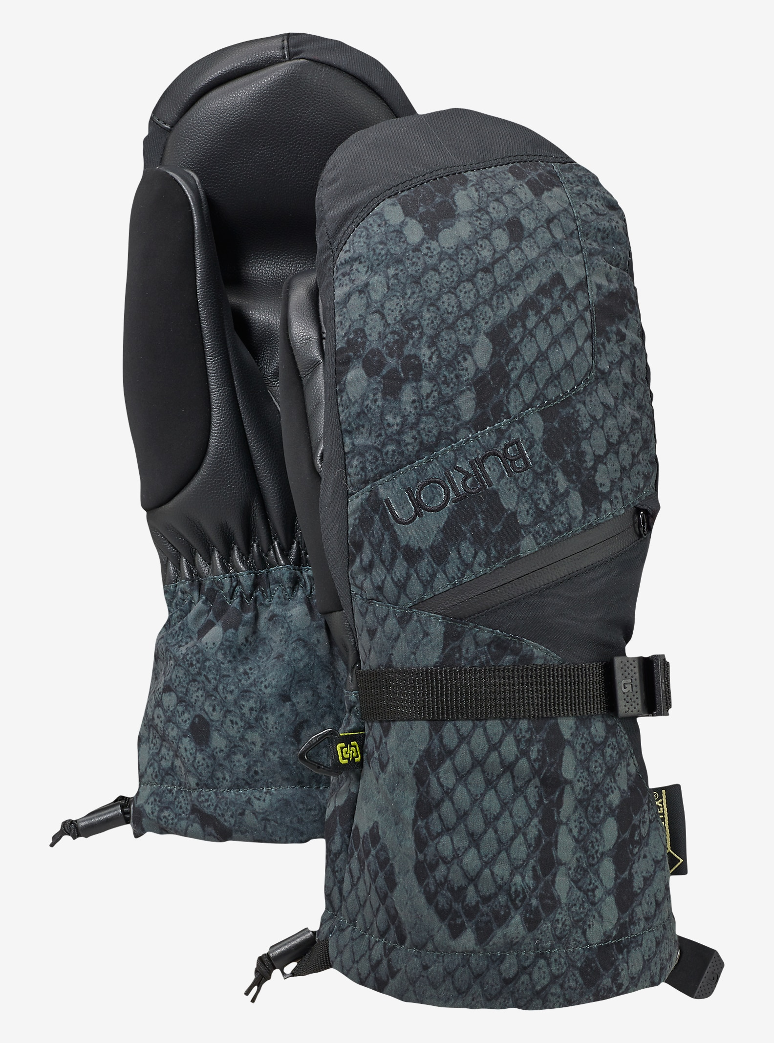 Burton Women's GORE-TEX® Mitt + Gore warm technology shown in Python / True Black