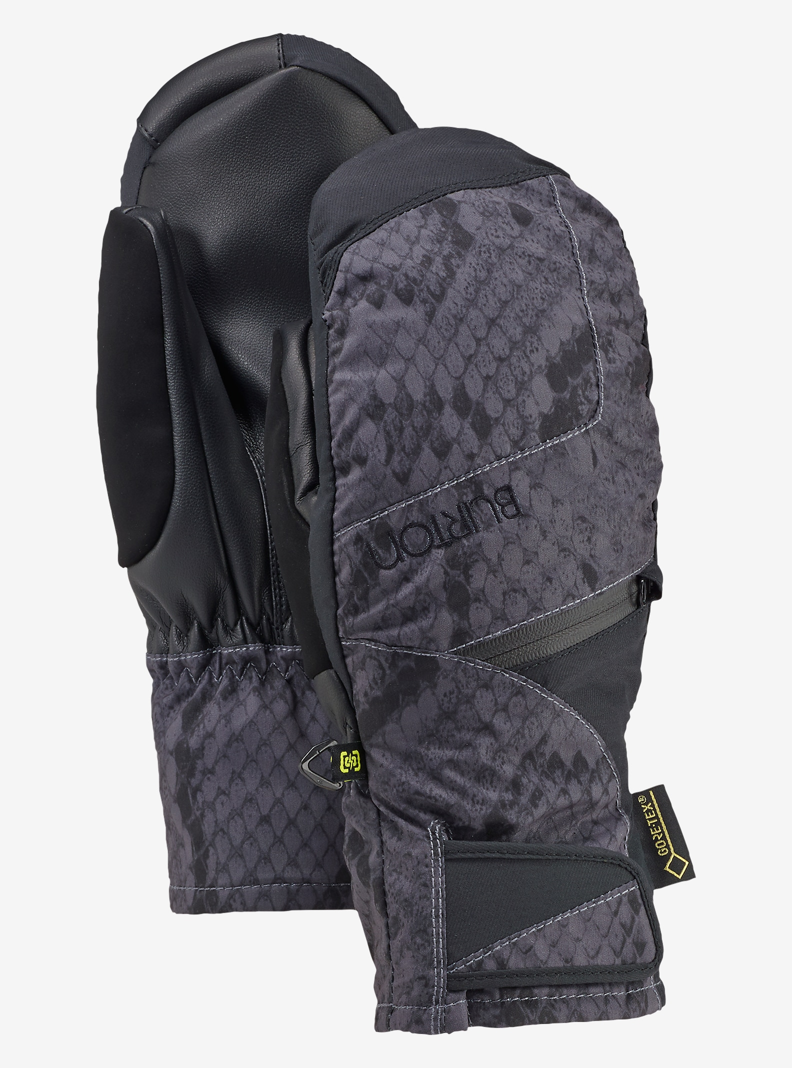 Burton Women's GORE-TEX® Under Mitt + Gore warm technology shown in Python / True Black
