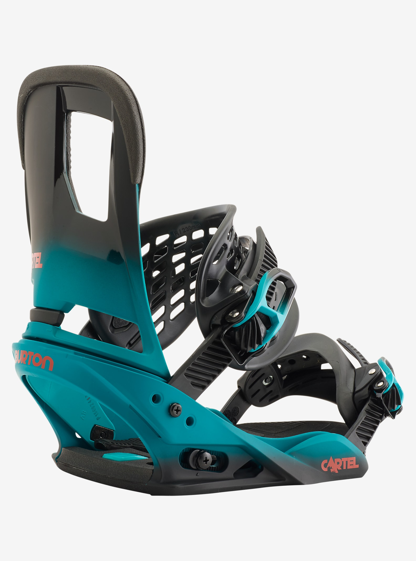Burton Cartel Snowboard Binding shown in Teal Fade