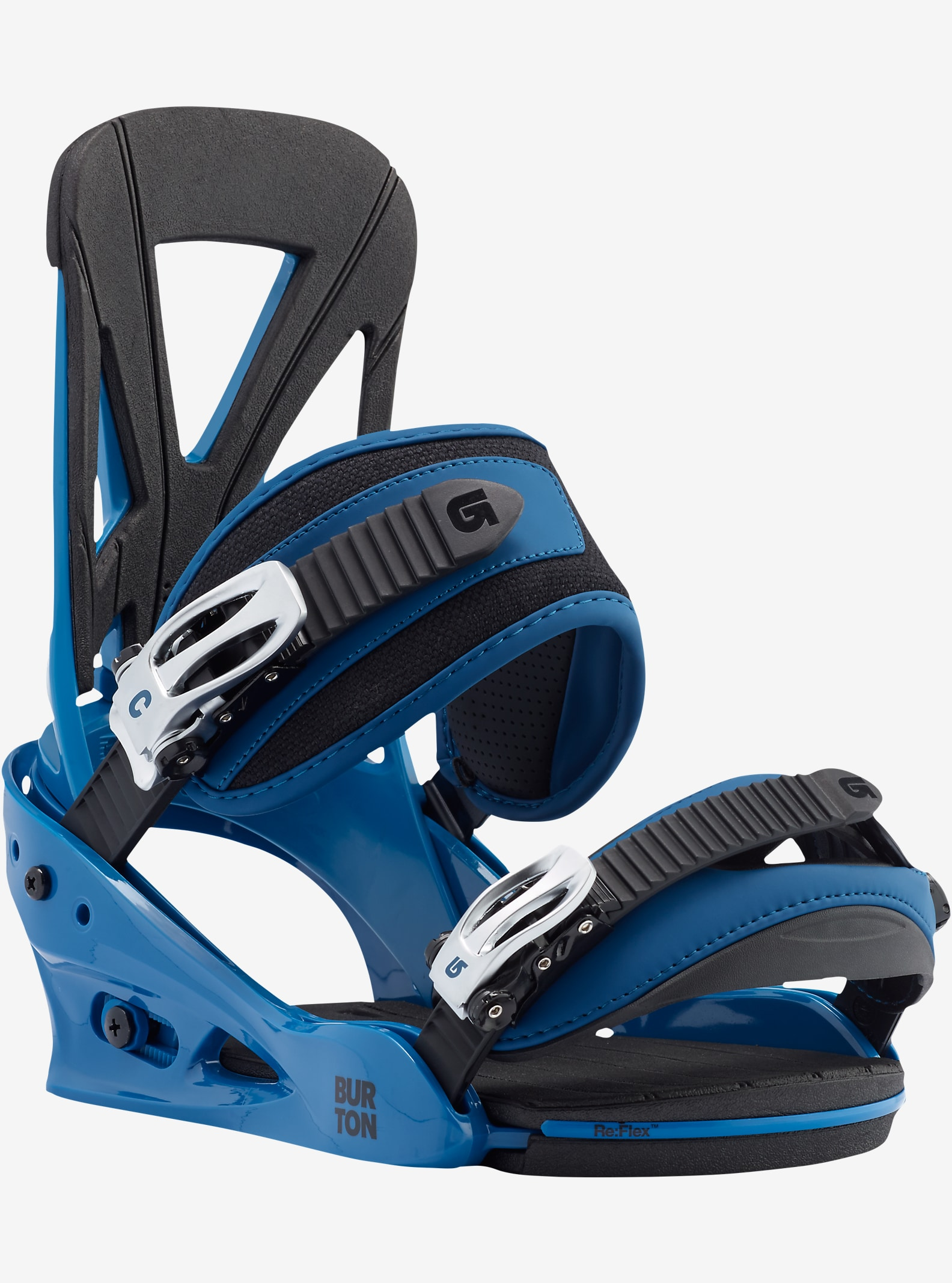 Burton Custom Snowboard Binding shown in Blue