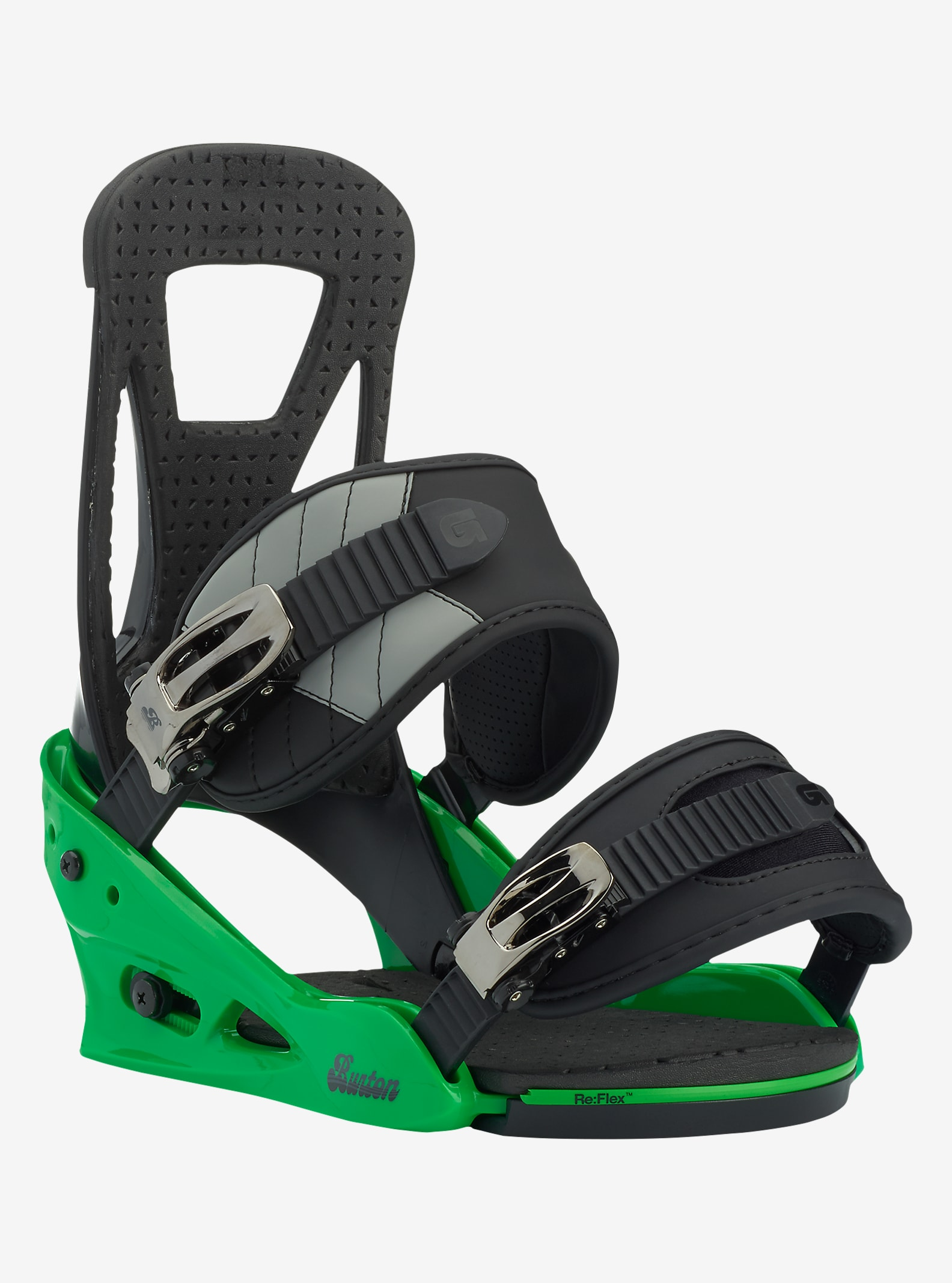 Burton Freestyle Snowboardbindung angezeigt in Green