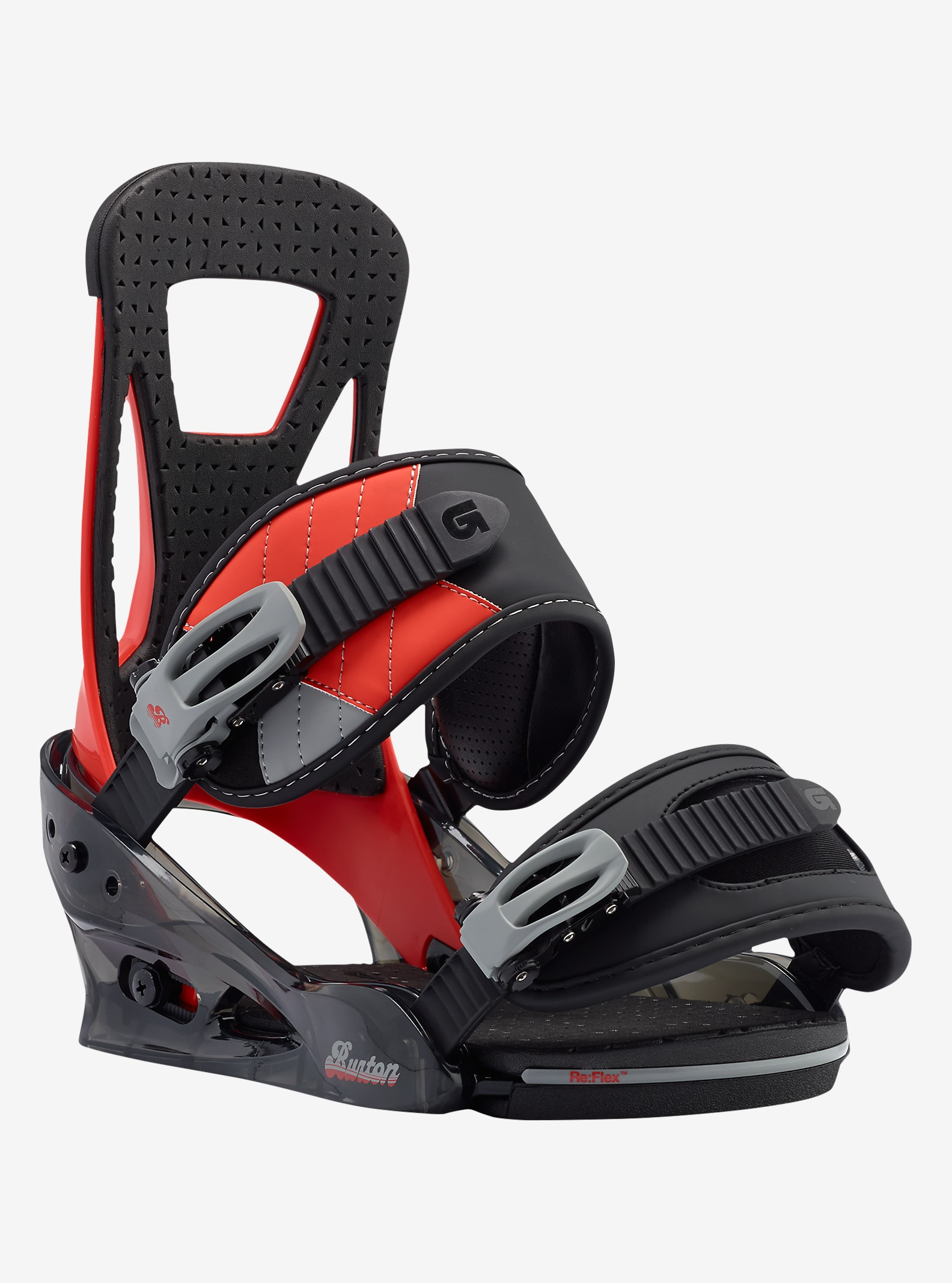 Burton Freestyle Snowboard Binding shown in Redrum