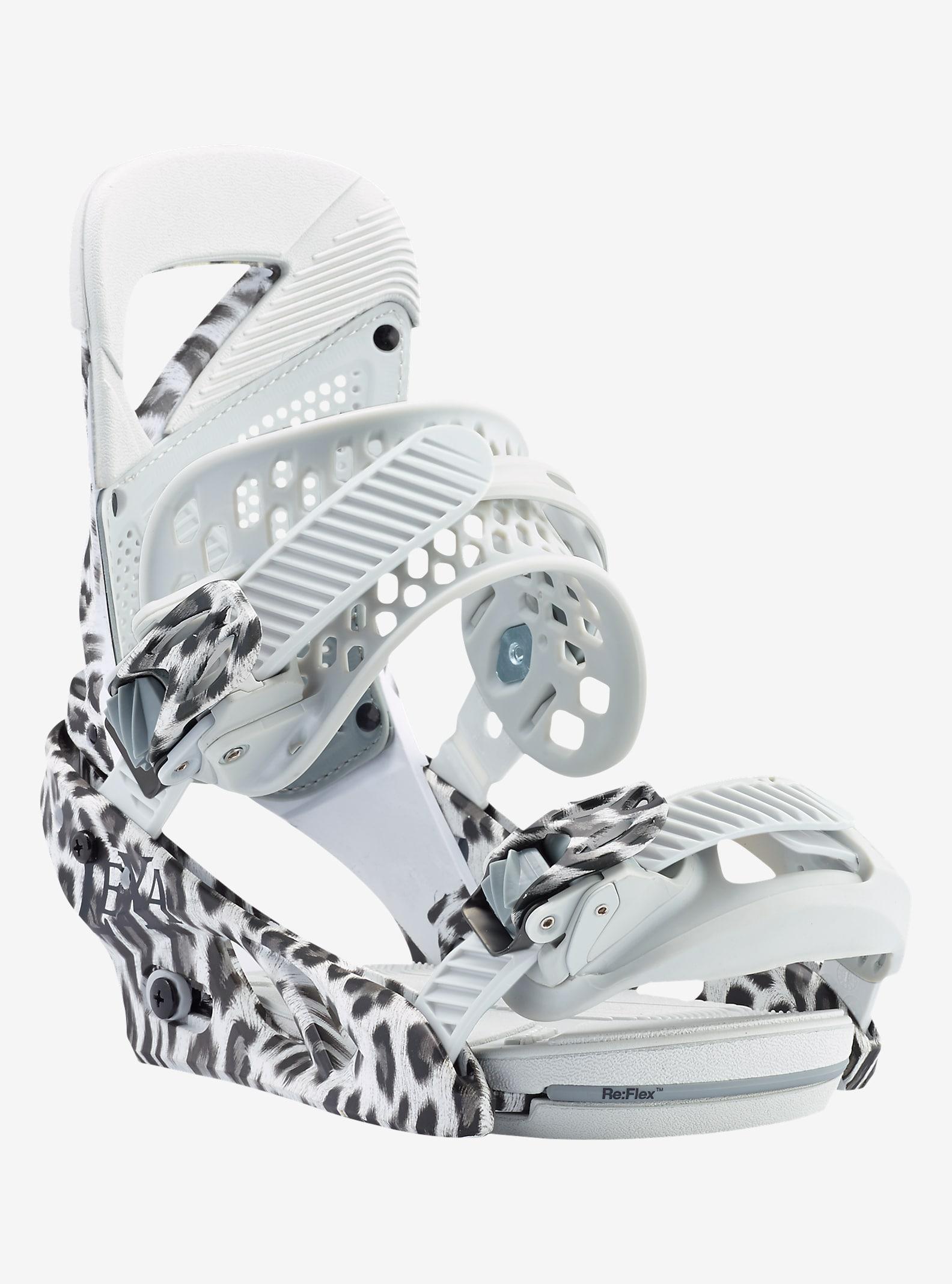 Burton Lexa Snowboard Binding shown in Snow Leopard