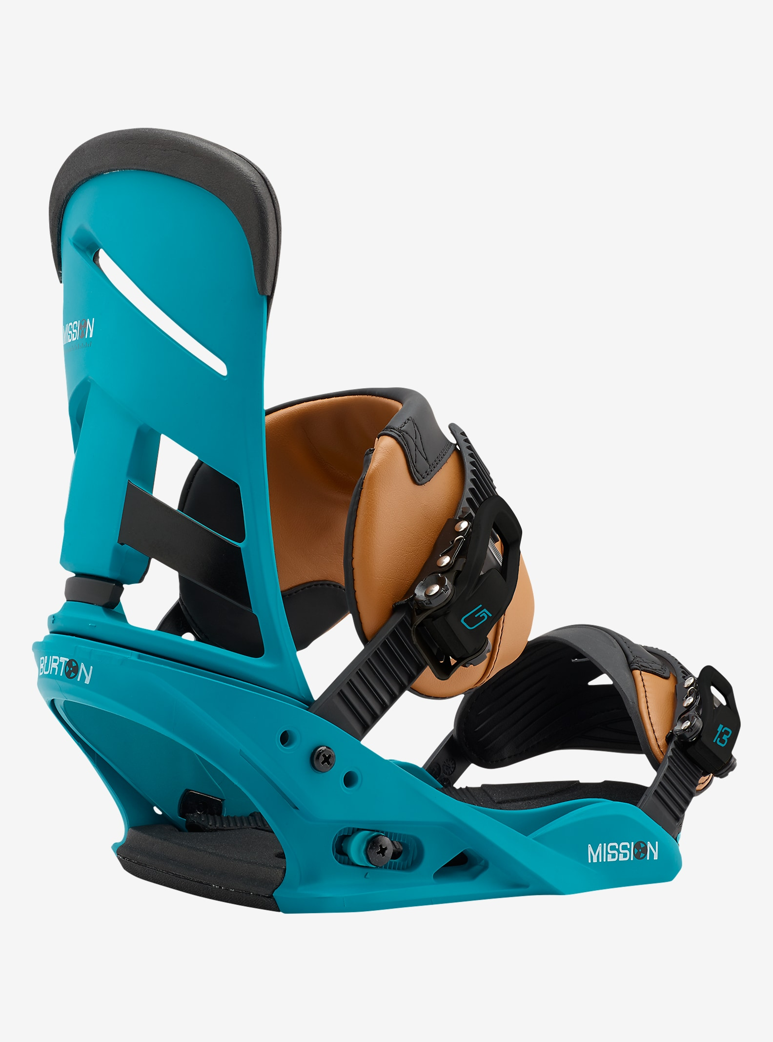 Burton Mission Snowboard Binding shown in Real Recognize Teal
