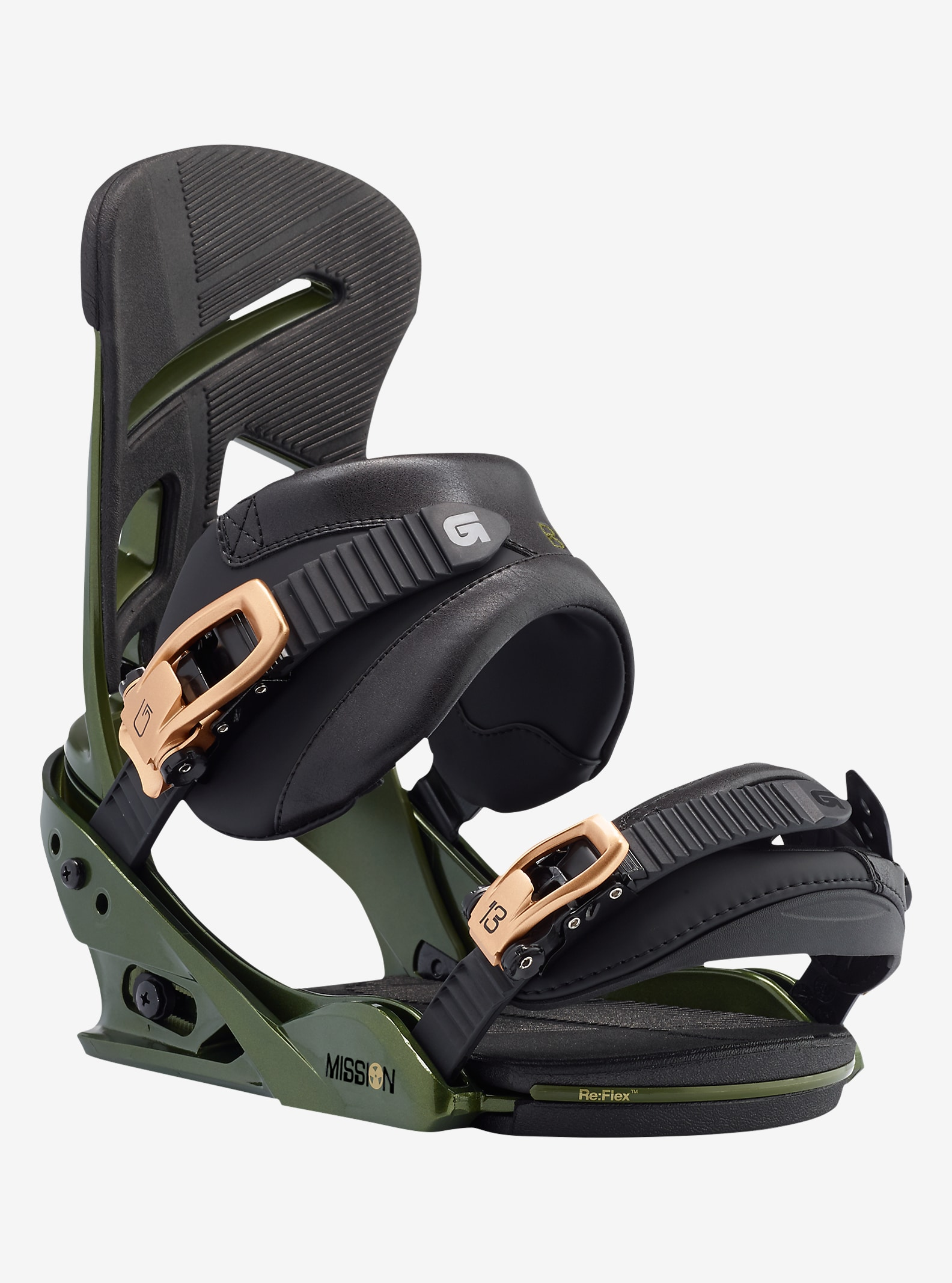 Burton Mission Snowboard Binding shown in Track Day Green